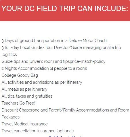 DC College School Tours 3 days