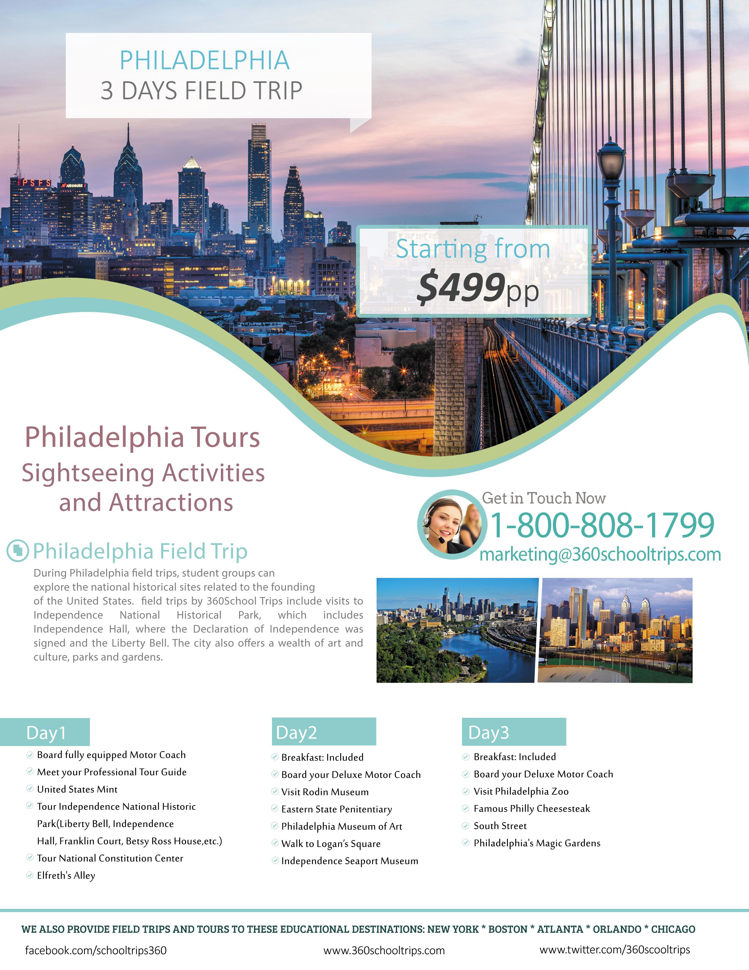 Philadelphia 3 Days Field Trip